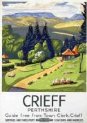 Crieff, Scotland, Perthshire, Vintage British Railways Travel Posters Print